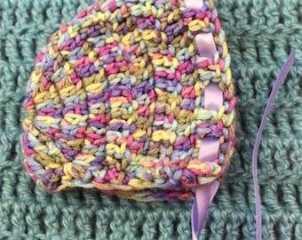 Newborn Crochet Bonnet Photo Prop