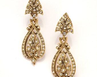 Antique Gold Art Nouveau Earring