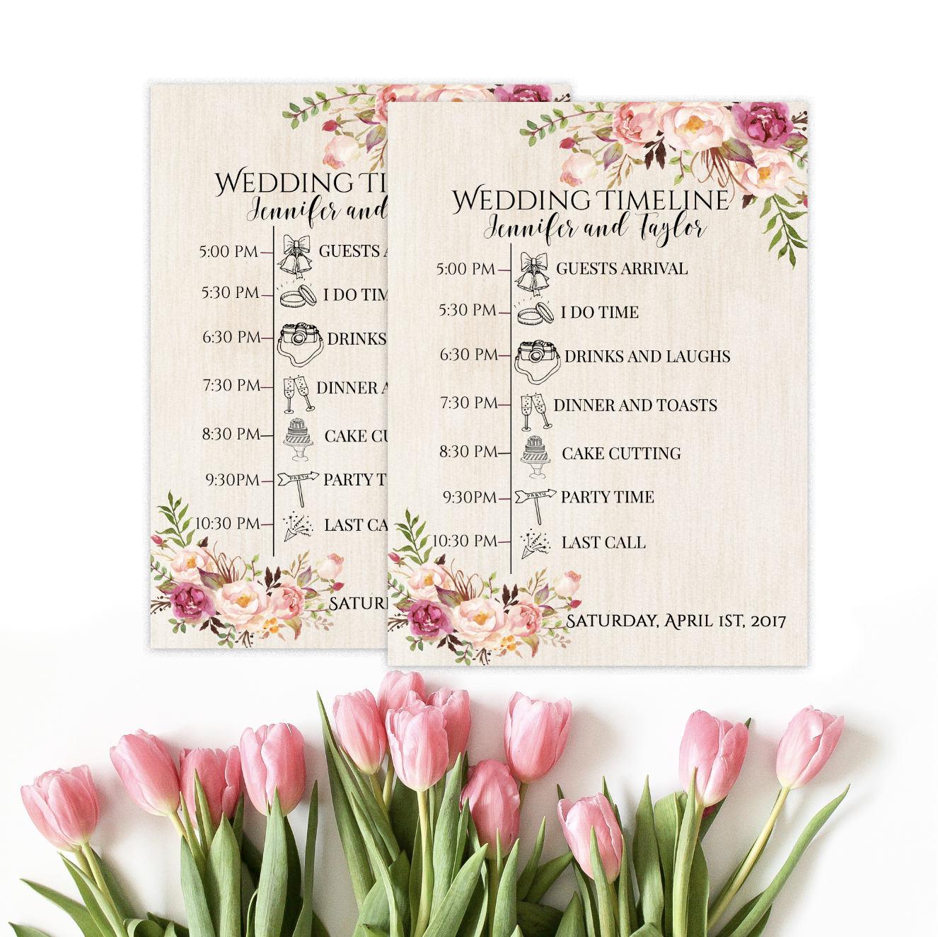 Hochzeit Timeline druckbare Timeline benutzerdefinierte