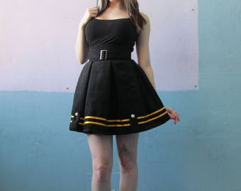 Vtg 90s Uniform Pleated Skirt / Marching Band / Goth Style