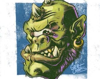 CYCLOPS - Monster Head Print