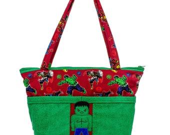Super Hero Diaper Bag, Hulk Baby Shower, Tote For Mom, Avengers Nursery, Incredible Hulk, Unique Baby Gift, Comic Book, Baby Bag, Boy Gift
