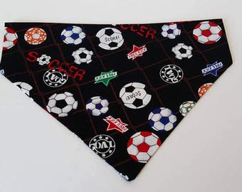 Soccer Dog Bandana, Pet Clothing, Pet Costume, Soccer Lover Gift, Dog supplies, Soccer Ball Gifts