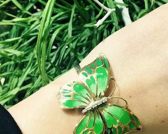 Butterfly-Rigid cuff bracelet butterfly