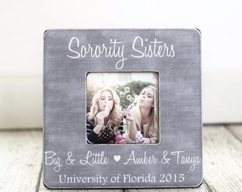 Sorority Sister Christmas Gift Big Sister Little Sister Gift Picture Frame Personalized Gift