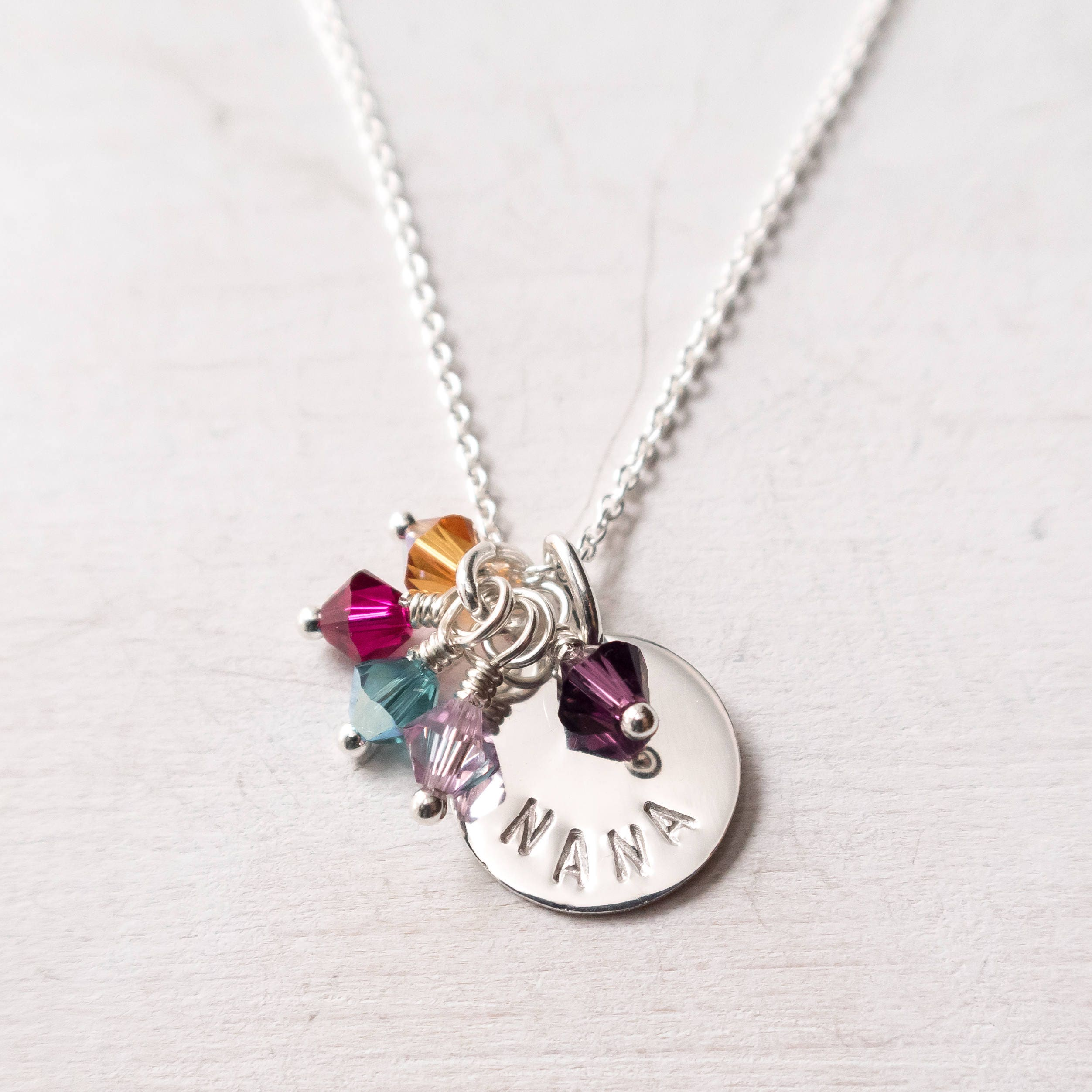 gifts at heart necklace mom grandkid birthstone blossom sweet