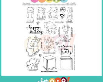 Winnie & Walter Clear Stamp Set - Welcome To The Family