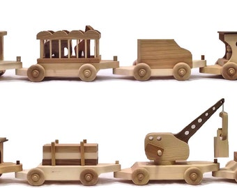 Large Wooden Toy Train