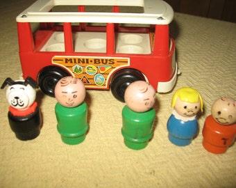 Get Price vintage bus. Wooden passenger. Play toy for children.