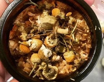 Sun & Moon Herbals 'Days of Yore', Skin Softening, Organic Honey~Oat Scrub (50g).