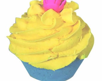 Crazy for Coconut Bath Bomb Cupcake with Bubble Bath Frosting