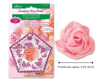 Clover Large Sweetheart Rose Maker Template - Fabric Flower Making Template - Clover 8472