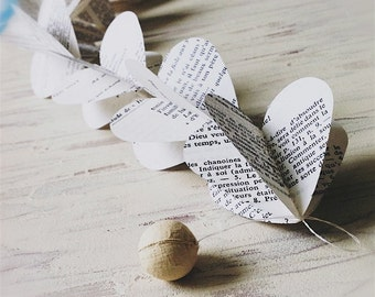 Choose Your Language Heart Strings Vintage Book 3D Paper Mobile