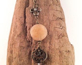 Key necklace, vintage style key necklace, long key necklace