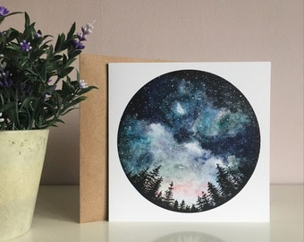 Starry Sky Greetings Card