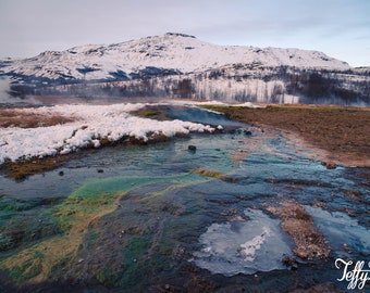 Canvas - Iceland Geysir colours