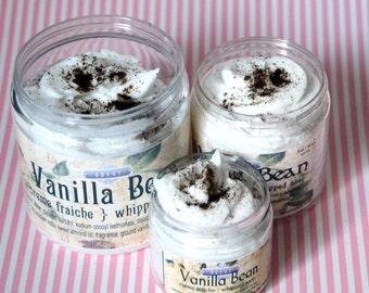 Whipped Soap Vanilla Bean 2 oz Mini Creme Fraiche Trial Sample Size VEGAN