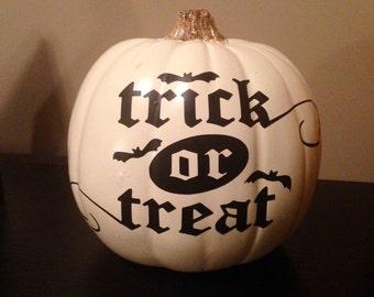 Trick or Treat, Halloween Vinyl Decal, DIY, Fall Decor, Sticker, Pumpkin Decor