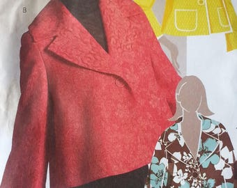 Mccalls M5276 Misses very loose fitting Jacket pattern  Misses size 6 8 10 12 14