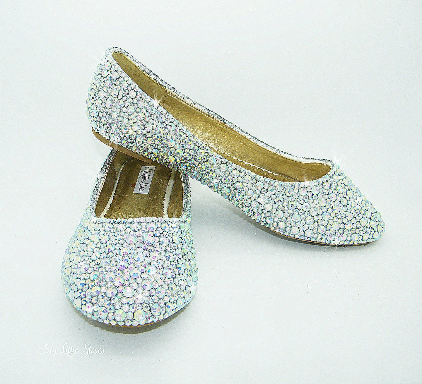 Prom Shoes Bling Flat Shoes Wedding Bridal Flower Girl