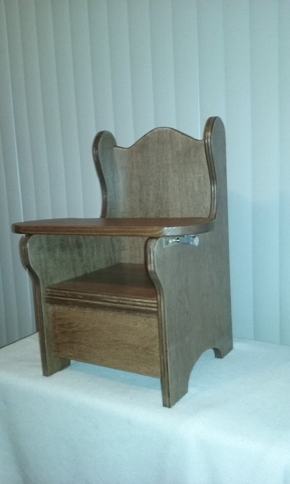 Wooden Potty Chair With Tray