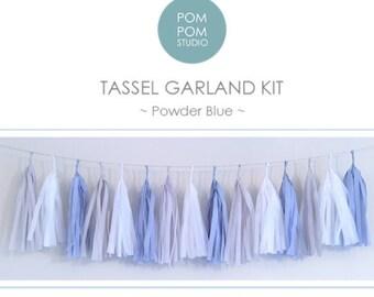 DIY Tassel Garland Kit | Powder Blue