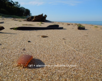 Lake Michigan Beach Glass - Matted Photo