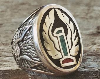 Numero Uno turquoise biker ring