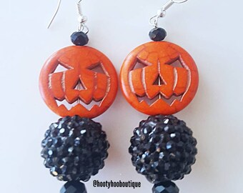 CLEARANCE! Halloween Statement Earrings pumpkin earrings