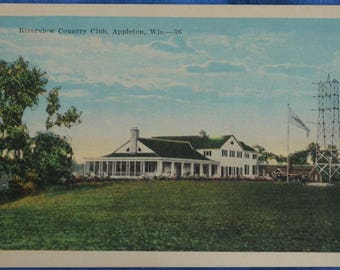 Riverview Country Club Appleton Wisconsin White Border Postcard Unused