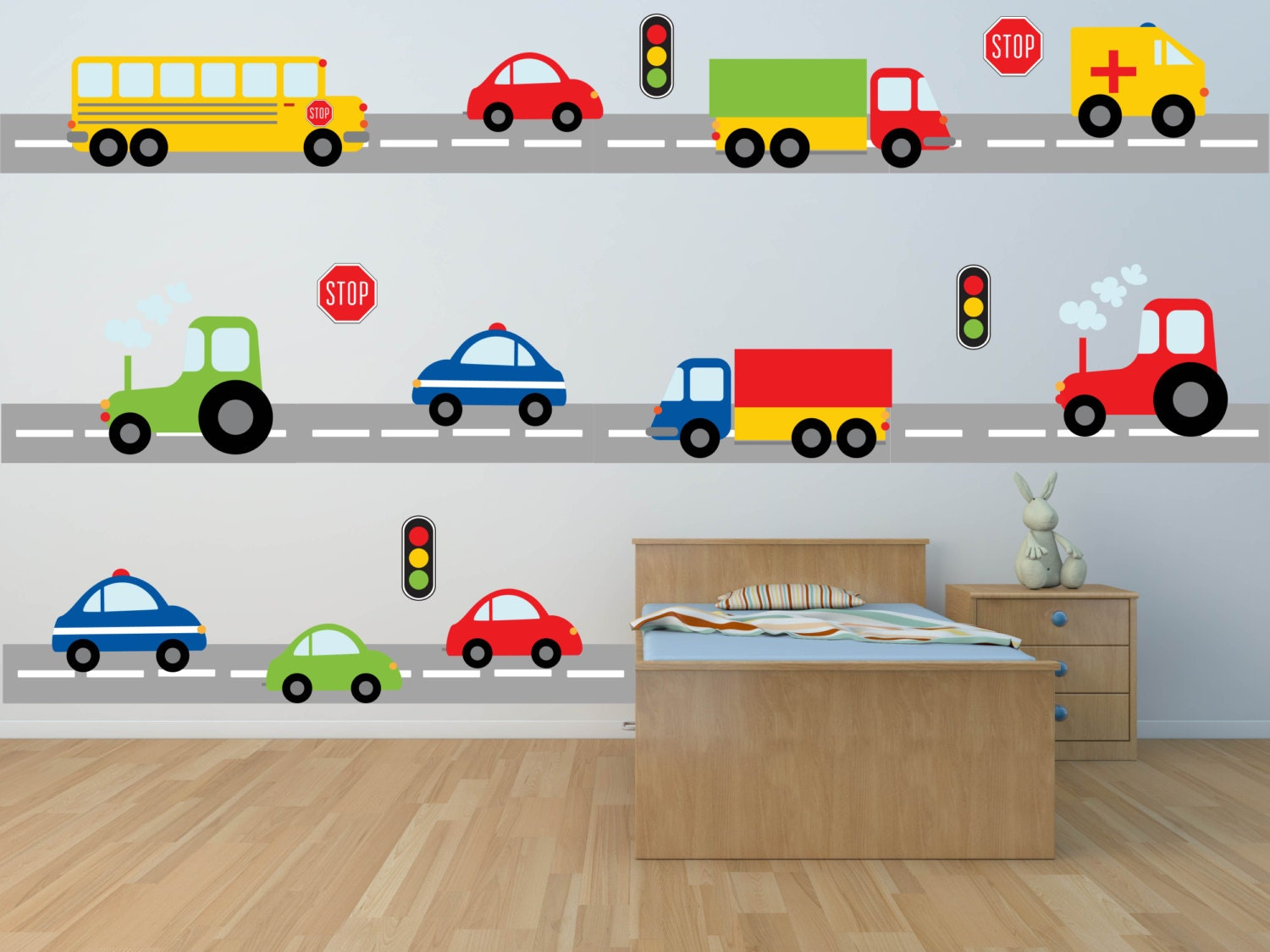50 Car Themed Bedroom Ideas For Kids Boys Accessories: Truck Wall Decal Construction Wall Decal Car Wall Decal