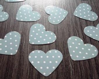 X 100 grey/white hearts table confetti