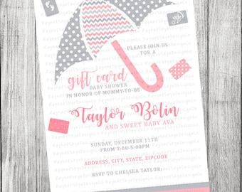 Gift Card Baby Shower Invitation
