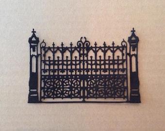 Gate (3) paper die cut embellishment