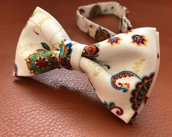 Mens Bow Tie Cotton Bow Tie Bow Tie for men Wedding Bow Tie Bow Tie for Men Gift for Men Gift for Dad Gift for Husband Bow Tie Tie