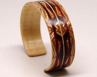 Cuff Bracelet #3, Wooden, Cuff, Bracelet, Eco, Minimalist, Modern, Jewelry, Anniversary Gift, Wood Jewelry, Mens, Womens, Unisex