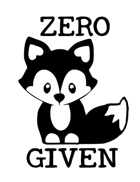 Zero Fox Given SVG Digital Download File