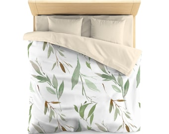 Microfiber Duvet Cover: Floral Leaves