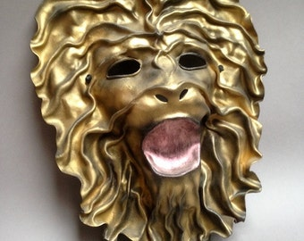 Lion molded leather mask