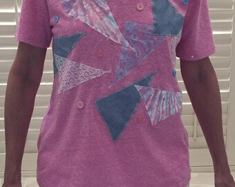 Patchwork Embellished Tee Shirt