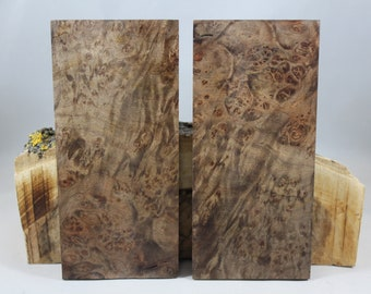 2 pcs Stabilized Maple Burl Knife Scales (94)