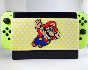 Nintendo Switch Screen Protector - Nintendo Switch Dock Cover - Switch Dock Sleeve - Video Game- Dock Case - Switch Dock Sock -Mario Brother