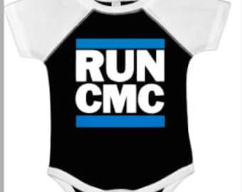 Carolina Panthers baby shirt~ Christian McCaffrey is gonna be a Panther ~ RUN CMC ~ Football bodysuit