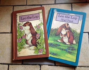 1970s Leo The Lop and Leo the Lop (Tail Two) Children's Books