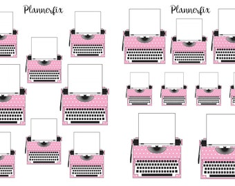 Pink Typewriter. Stickers