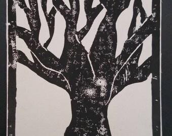Tree Block Print