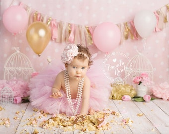cake smash outfit, girls first birthday outfit, cake smash, outfit girl, cake smash props, first birthday, birthday tutu, pink tutu,