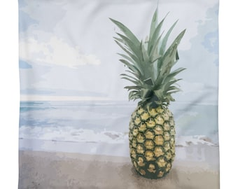Pineapple on beach Square Pillow Case only