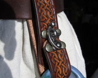 Customizable Celtic Braid Design Mug Frog, Tankard Strap