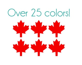 Maple Leaf Nail Decals - Vinyl, Custom Choice of Color